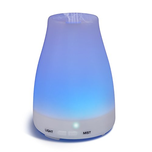 Homeweeks 100ML Auto Off Ultrasonic diffuser LED Colorful