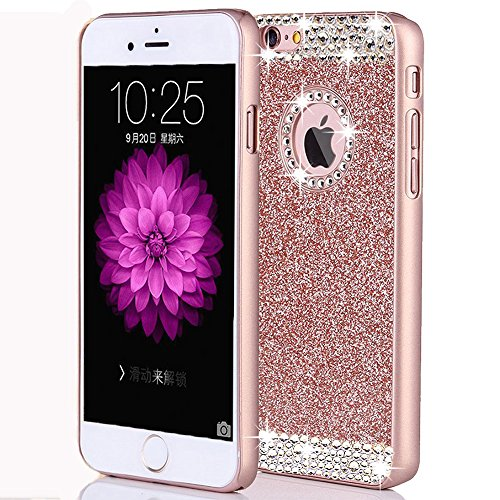 8f0056ecfd iphone 7 Plus Case,ARSUE TM Luxury Hybrid Beauty Crystal Rhinestone With  Gold Sparkle Glitter PC Hard Protective Diamond Case Cover For iphone 7 Plus  ...