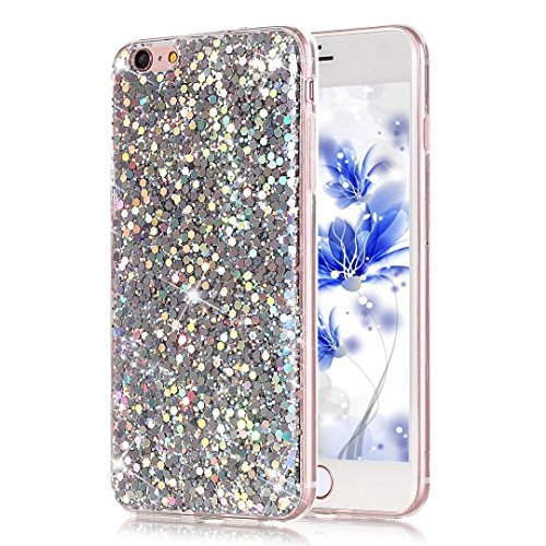 a08fc5c6f9 ... iPhone 8 Plus/ 7 Plus Silver. Bling bling style: solid color with  shinning elements makes you and your phone look fashionable and perfect  every day.