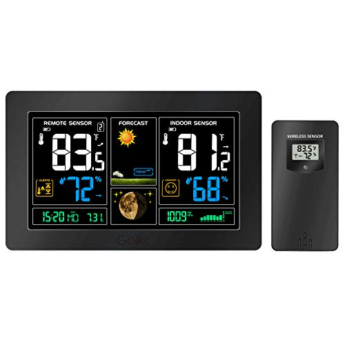 GBlife Wireless Weather Forecast Station, Digital Indoor Outdoor